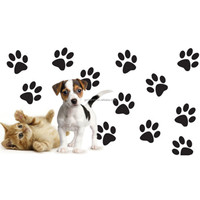 Hot Sale Removable Wallpaper Rinted 12 Dog Cat Paw Footprint For Car Window Decorative Wall Stickers Living Room Bedroom