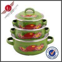 Wholesale Kitchenware 601ED Green Enamel German Cookware Sets