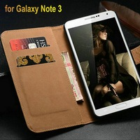 genuine leather stand function card holder luxury phone case cover for samsung galaxy note 3