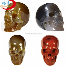 Bulk of craved mix gemstone carving skull
