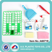 8PCS happy family plastic cleaning play set sanitary ware toy for girl