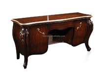 Luxury Antique Simple Wooden Dark Brown Dressing Table with Drawer