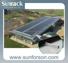 No cutting mount solar carport, flat roof or ground
