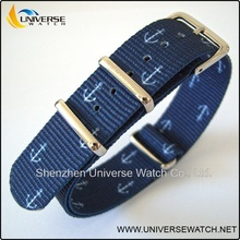 Simple style nylon watch strap with achor printing wholesale price UN116