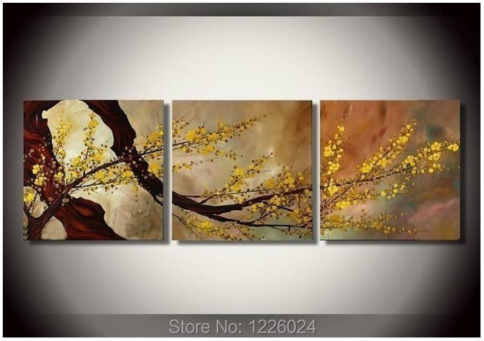 Livraison gratuite de prune fleur paysage peinture l for Different type de peinture