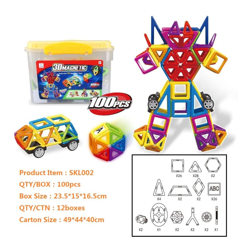 Kids New Puzzle Toys SKL800,3D Construction Magnetic Bricks Toy tiles building block.jpg