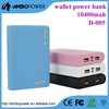 Hot and new wallet shape 8800mAh mini power bank with different colour