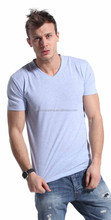 wholesale fashion plain men fancy v neck t shirt