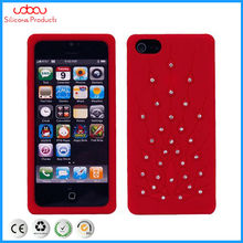 crystal diamond silicone phone case for iphone 5G