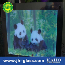 wall mounted interactive ultra thin magic mirror glass TV in kitchen