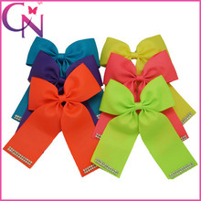 2015 New Arrival Mini Cheerleading Environmently Hair Bow For Girls With Alligator Clip