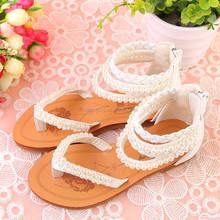 2015 summer latest design wholesale flat fashion sandals for children beautiful flat shoes girls sandals