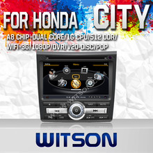 WITSON FOR HONDA CITY 2011 NAVIGATION DVD WITH STEERING WHEEL CONTROL WITH RAM 8GB FLASH RDS STEERING WHEEL SUPPORT