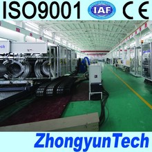 plastic double wall corrugated piping line