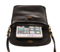 Hot sale durable design leather shoulder phone bag/mobile phone pouch/cell phone bag