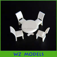 1:75 scale model furniture model dining room table sets plastic model table