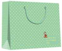 green high quality large size paper gift bags