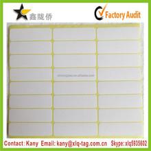 2015 Cheap blank white self adhesive paper sheet label a4 gloss