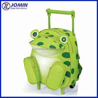 canton fair new design frog child animal trolley school bag with wheels