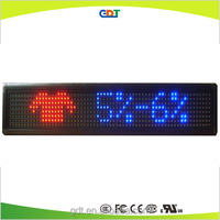 outdoor led clock time date temperature scrolling moving message led sign display