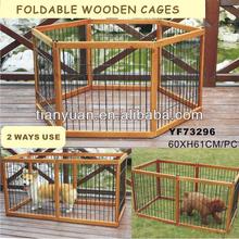 2 Ways Use Foldable Strong wood dog cage