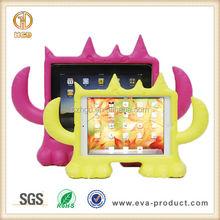 Cartoon monster design kids proof EVA stand tablet rubber case for ipad mini