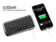 Protable usb mini keyboard with power bank for mobile phones