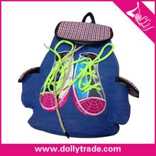 Sports Camping Travel School Shoulders Blue shoes Printing Bag Backpack Blue