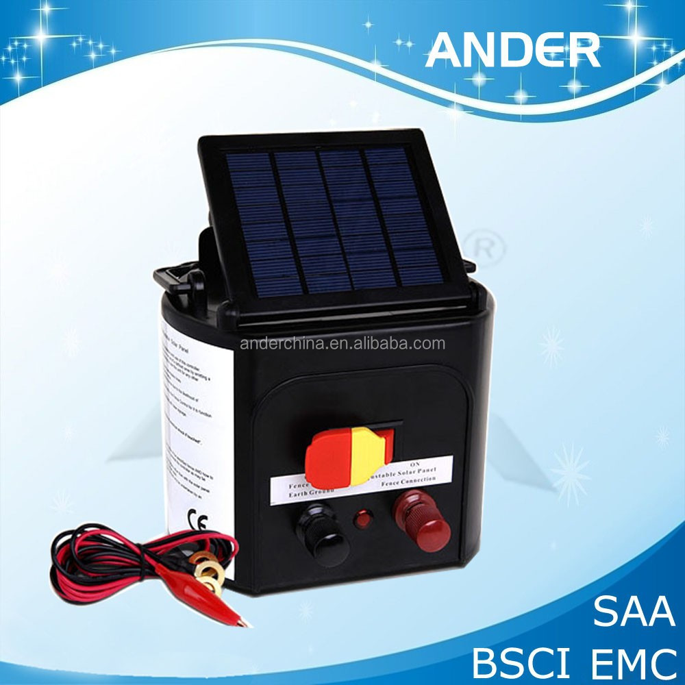 New Solar Powered Farm Electric Fence Energizer 8km With
