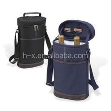 polyester/nylon/neoprene 2 bottle insulated wine carrier