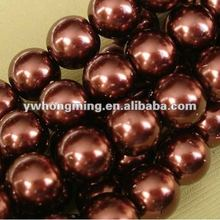Jewelry Glass Pearl beads!!16MM Glass Pearl beads coffee Color!!