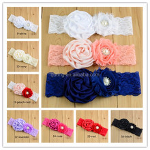 Chiffon Satin Ribbon Flowers Hair Headbands party decorations Wholesale 2015 New Design For Kids Children Hair Band