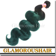 2016 Hot Trends Hair green ombre color body wave hair weaving cheap Brazilian hair extensions