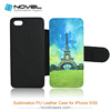Wholesale Price - New Style DIY Sublimation PU Leather Phone Case For Iphone 5s, Customized flip cover