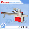 Multi-function food packaging machinery with gas influshing, food with a tray in a bag wrapping machine.