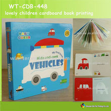 Lovely kid's board book printing WT-CDB-448