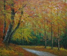 Fine Art Landscape Birch Forest Oil Painting