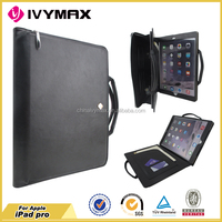Genuine leather flip wallet case cover for IPAD PRO