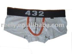 plain white cotton mens boxer briefs