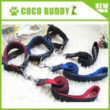 2015 popular denim fabric nylon dog collar black dog running leash guangzhou pet dog accessories