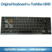 original and new Laptop keyboard with frame black keys for Toshiba U900 U920T U940 U840 U800 U800W U830 U835