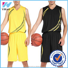 Dongguan Yihao 2015 New Style High Quality Printed V-neck Sleeveless Basketball Sets Sportswear Plus Size