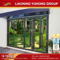 With Germany Roto hardware double glazing aluminum horizontal folding doors