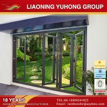 With Germany Roto hardware double glazing aluminum horizontal folding doors
