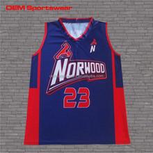 Latest design dry fit wholesale custom basketball top