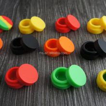 High quality customized small silicone jars dab wax container,butane hash oil silicone container