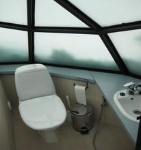 Prefab garden glass sunroom