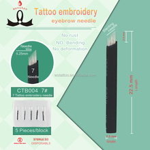 Gamma Ray Sterilize Stainless Steel Disposable Eyebrow Tattoo Needle
