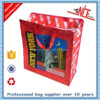 supermarket pp woven shopping bag with zipper
