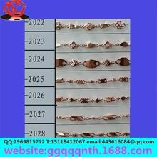 durable nk rose gold hollow cross South Korea copper iron chain